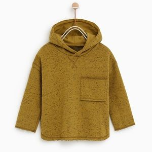 Zara Baby Hooded Speckled Sweatshirt in Pistachio